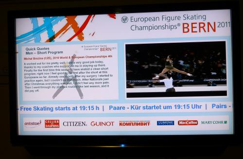 SpinetiX provides live results for the IceSkating Championship at Bern Arena
