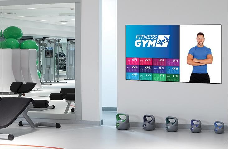 sinlge screen solution for the gym