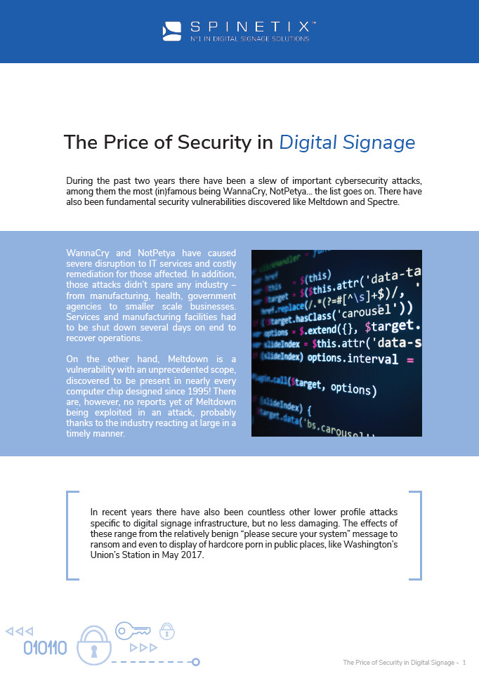 spinetix free whitepaper on security cover page thumbnail