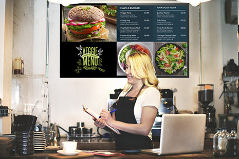 spreadsheet used for digital menu board with spinetix technology
