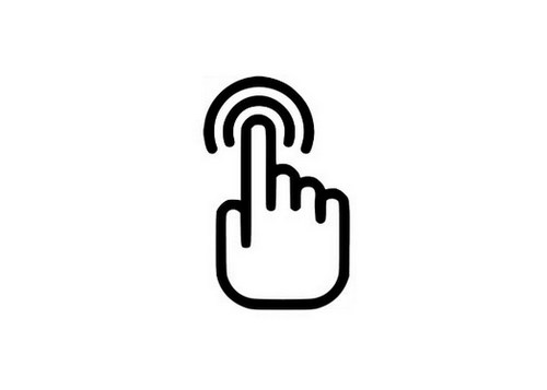 touch-screen interactivity icon