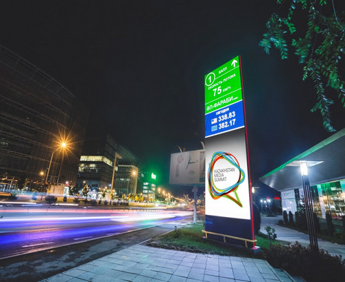 Smart City LED Digital Signage-Installation in Astana,Kasachstan