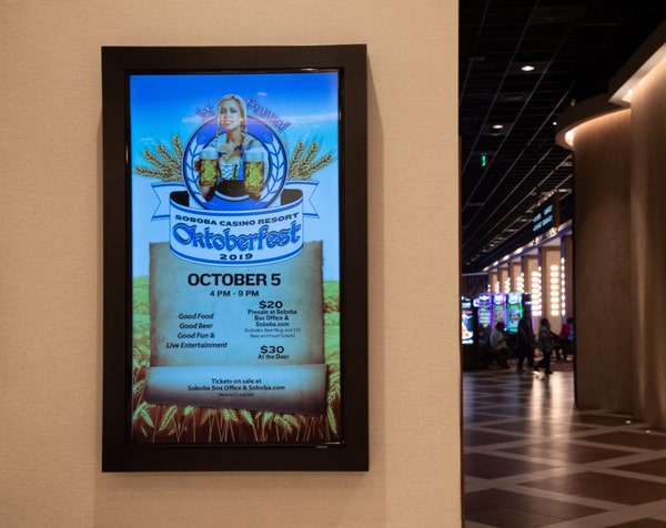 soboba oktoberfest digital menu board from spinetix