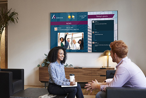 digital signage offers prime office experiences