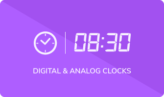 diva digital and analog clocks
