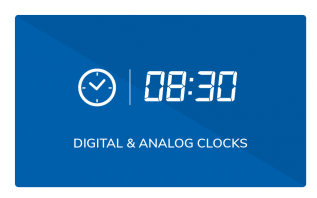 elementi digital and analog clock widgets
