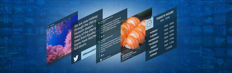 digital signage widgets and apps header image