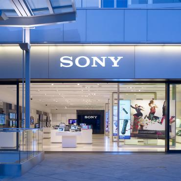 Sony store shop window